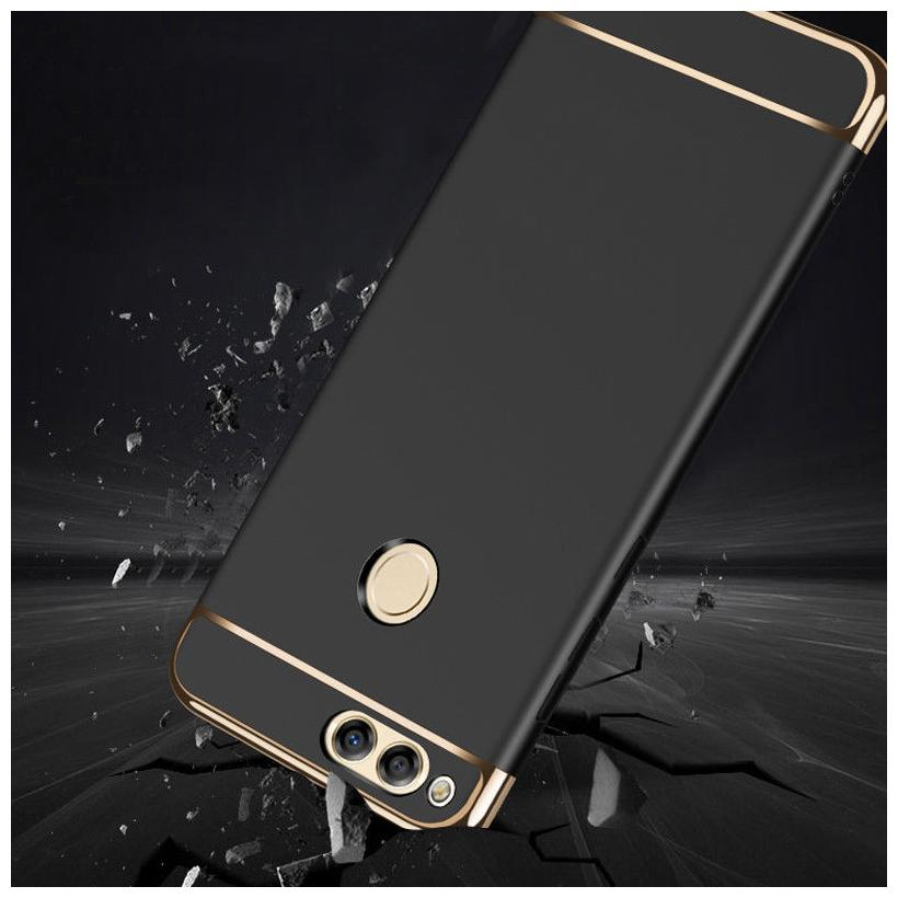 Honor 7A Plastic Back Cover By FOKATKART ( Black )