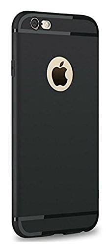 Emartos Apple iphone 6 and 6s Back Cover With Line TPU for Apple iphone 6 and 6s (Black)