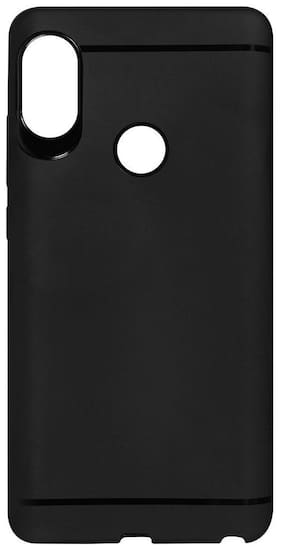 EMARTOS Rubber Back Cover For Redmi Note 5 Pro ( Black )