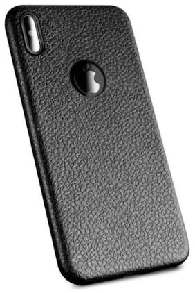 EMARTOS Back Cover For Apple Iphone X / Xs Leather Black