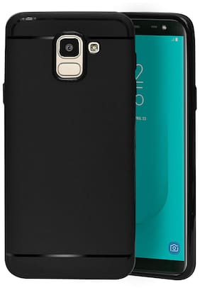 Emartos Back Cover For Samsung J6  (Black)