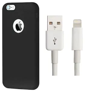 Emartos Combo set of Back cover for Iphone 6/6s with USB data cable for charging/Transfer data (combo set)