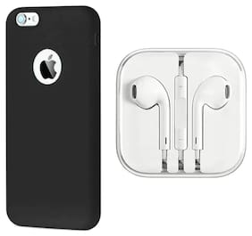 Emartos Combo set For Apple iPhone 6/6s Back Cover with Earphone (combo set)