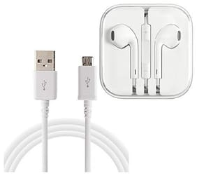 Emartos High speed USB Data cable for charging/transferring data With Free Earphone/Headphone (combo set)