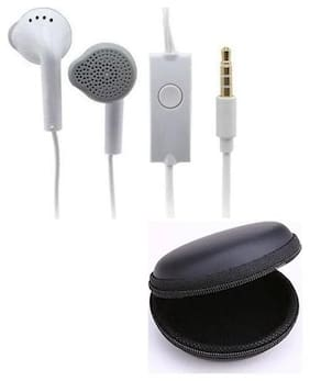 Emartos YS Earphone/Headphone with Free Multipurpose Round Pouch For Earphone/Pendrive/Coin/Data cable (Combo set)