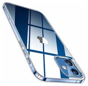 Enflamo Silicone Back Cover For Apple iPhone 12 ( Transparent )