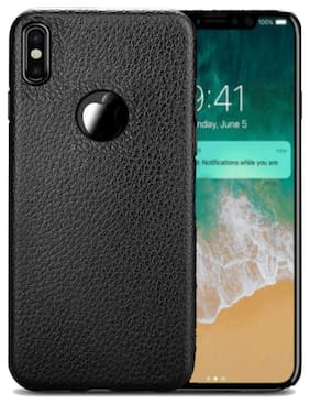 Enflamo  Bumper Protective Back Matte TPU Soft Rubber Silicone Black Case Cover Phone Case for Apple iPhone X (Texture Black)