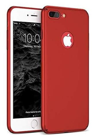 Enflamo Slim Fit Ultra Thin Case Hard Sleek Protective Matte Finish Great Grip Back Cover for Apple iPhone 8 Plus (Red)