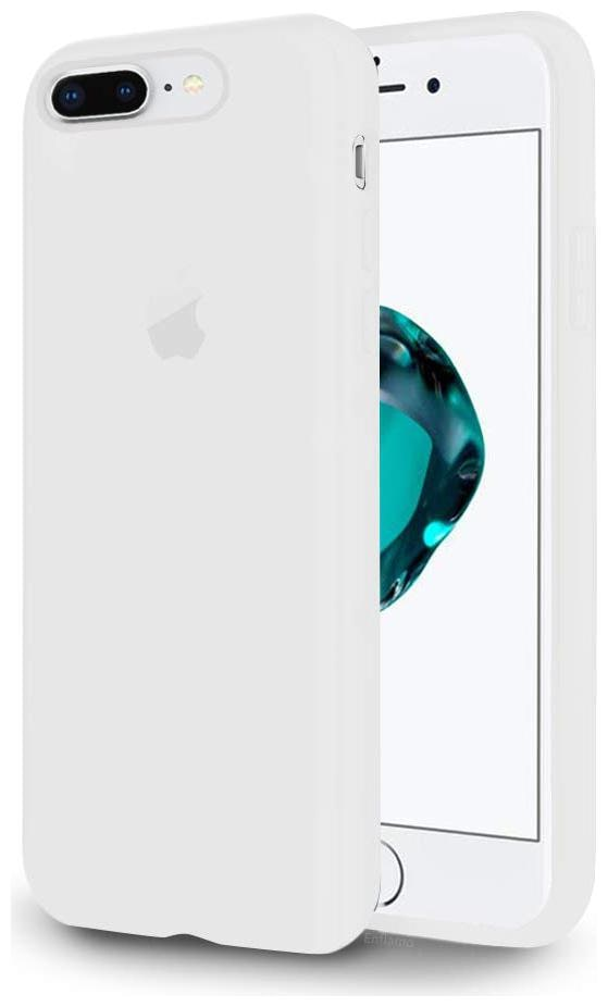 Enflamo Silicone Back Cover For Apple iPhone 7 Plus   Apple iPhone 8 Plus   White   by Enflamo