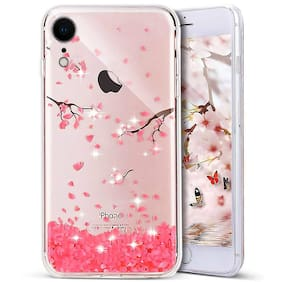 Enflamo Soft TPU 3D Relief Flower Printed Phone Case for iPhone XR (Cherry Blossom)