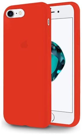 Enflamo Silicone Back Cover For Apple iPhone 7 & Apple iPhone 8 ( Red )