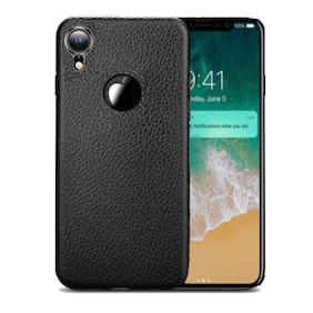 Enflamo TPU Soft Slim Ultra Thin Durable Flexible Anti-Scratch Full Protective Back Cover for iPhone XR - Textured Black