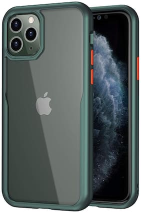 Enflamo Transparent Clear Shock Proof Bumper Back Cover Case for iPhone (iPhone 11 Pro 5.8 Inch, Midnight Green)
