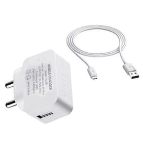 ERD 1 Amp Charger with USB Cable for All Samsung Android Mobile with 1 Year Replacement Warranty from Brand Auth Seller