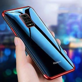 EXOTIC FLOURISH Silicone Back Cover For Redmi Note 9 Pro Max ( Red )