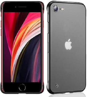 Apple iPhone SE 2020 Polycarbonate Back Cover By EXOTIC FLOURISH ( Black )