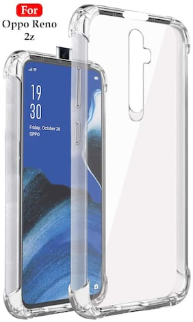 Oppo Reno 2 Z Silicone Soft Back Cover By EXOTIC FLOURISH ( Transparent )