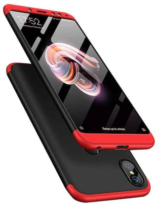 Exotic Flourish Mobile Hard Back Cover For Redmi Note 5 Pro (Black;Red)