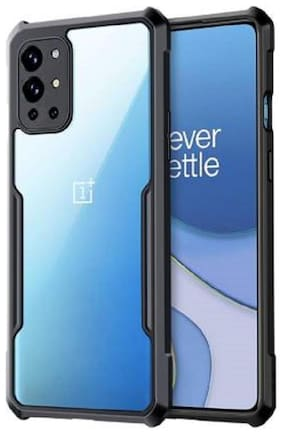 OnePlus 9R Polycarbonate Back Cover By EXOTIC FLOURISH ( Black )