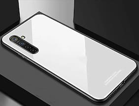OnePlus Nord Glass Back Cover By EXOTIC FLOURISH ( White )