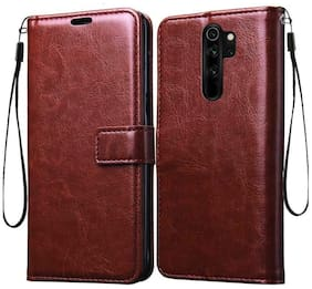 Exotic Flourish Flip Cover For Redmi Note 8 Pro (Brown)