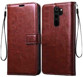 Exotic Flourish Flip Cover For Redmi Note 8 Pro (Brown)