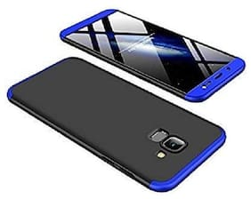 EXOTIC FLOURISH Polycarbonate Hard Back Cover For Samsung Galaxy J6 ( Black & Blue )