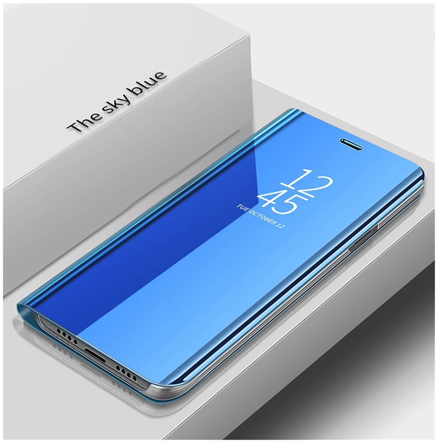 Samsung Galaxy S7 Edge Glass Flip Cover By EXOTIC FLOURISH   Blue   by Exotic Flourish