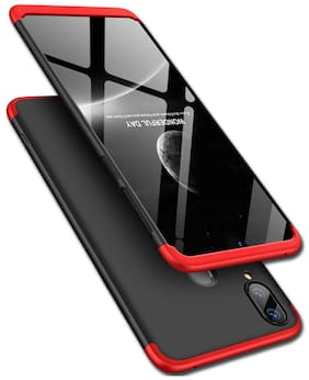 Exotic Flourish Mobile Hard Back Cover For Samsung Galaxy M20 (Black;Red)
