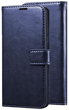 Samsung Galaxy J7 Prime Leather Flip Cover By EXOTIC FLOURISH ( Blue )