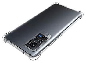 Vivo X60 Silicone Back Cover By EXOTIC FLOURISH ( Transparent )