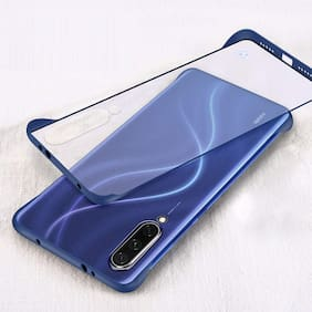 EXOTIC FLOURISH Polycarbonate Back Cover For Mi A3 ( Blue )
