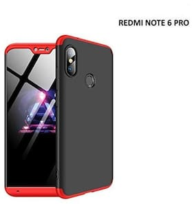 Exotic Flourish Mobile Hard Back Cover For Redmi Note 6 Pro (Black;Red)