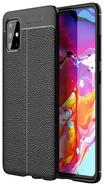 EXOTIC FLOURISH Faux Leather Back Cover For Samsung Galaxy M51 ( Black...