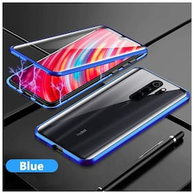 Redmi Note 8 Pro Metal Back Cover By EXOTIC FLOURISH ( Blue )