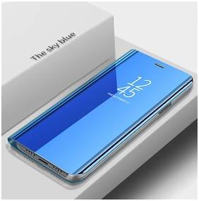 Vivo Y93 Glass Flip Cover By EXOTIC FLOURISH ( Blue )
