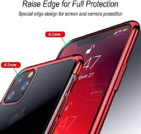 EXOTIC FLOURISH Silicone Back Cover For Apple iPhone 11 ( Red )