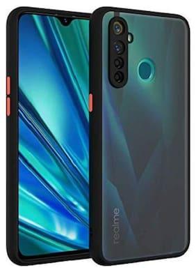 EXOTIC FLOURISH Silicone Back Cover For Realme 5 Pro ( Black )
