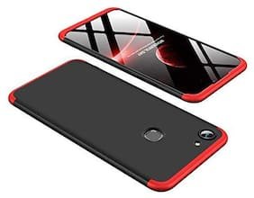 Exotic Flourish Mobile Hard Back Cover For Vivo Y81 (Black;Red)