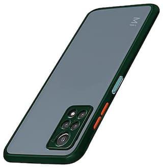 Redmi Note 10 Pro Silicone Back Cover By EXOTIC FLOURISH ( Green )