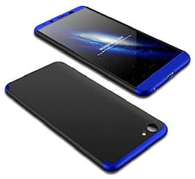 OPPO A83 Polycarbonate Hard Back Cover By EXOTIC FLOURISH ( Black & Blue )