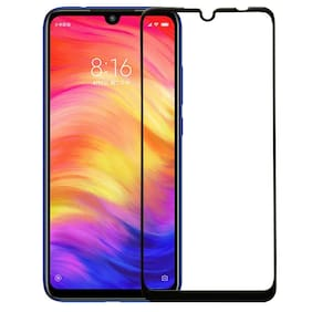 Exotic Full Glue, Full Coverage Edge-to-Edge 6D Tempered Glass Screen Protector for Xiaomi Mi Redmi Note 7 (Black)