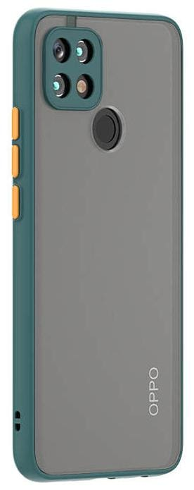 OPPO A15 Polycarbonate Hard Back Cover By EXPLOCART ( Green )