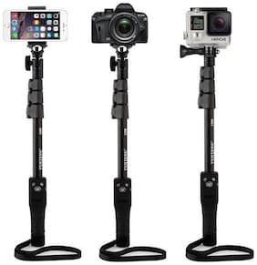 Extendable Selfie Stick Tripod Monopod Stand with Bluetooth Remote Clicker for Smart Phones & Action Cameras BY CHG