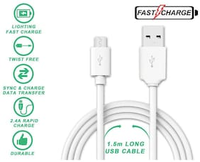 Sowing Happiness Usb cable - 1 mtr , White