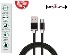 FAST CHARGE BRAIDED USB DATA CABLE FOR ALL ANDROID DEVICES