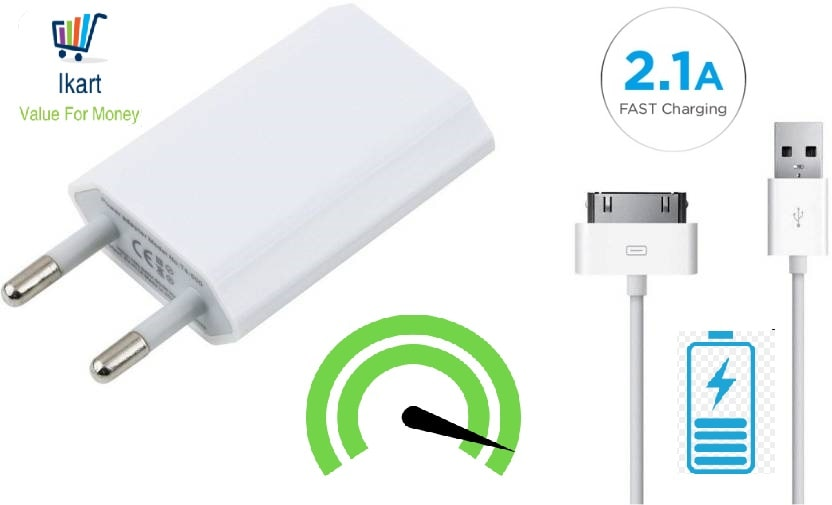 Fast Charger for Apple Universal Power Adapter/Fast Charging Adapter Compatible for Apple iPhone 4s