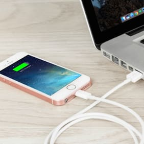 Fast lightning USB Data Charging Cable  (White)