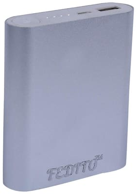 FEDITO 10400 mAh Power Bank - Silver