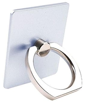 FEDUS 360 Degree Rotating Finger Ring Holder Stand for Mobile Phones & Tablets( Silver Colors )
